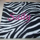 Zebra Print Monogrammed Reusable Sandwich/Snack Bag