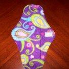 Purple Paisley Cloth Menstrual Pad
