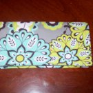 Grey Paisley Fabric Checkbook Cover