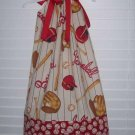 Daddy's Little Baseball Fan Pillowcase Dress