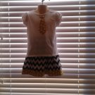 Girls Black Chevron Twirl Skirt Outfit