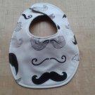 Mustache Baby Bib