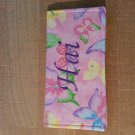 Monogrammed Pink Butterfly Checkbook Cover