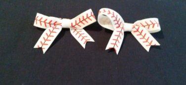 """2.5"""" Baseball Bow Set"""
