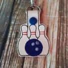 Bowling Pins Key Fob
