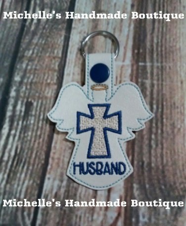Husband Angel Key Fob