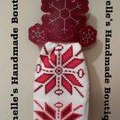 Snowflake Dish Towel Topper & Dish Towel