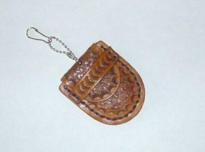Leather Key Coin Cup