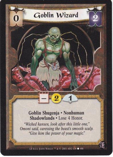 Goblin Wizard (L5R)  - Near Mint