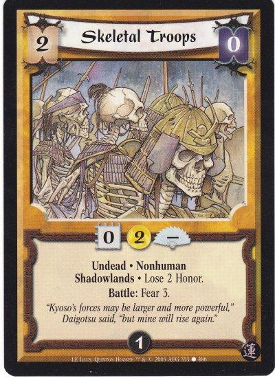 3x Skeletal Troops (L5R)  - Near Mint
