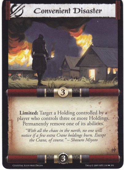 Convenient Disaster (L5R) - Near Mint