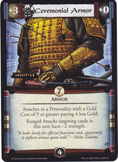 Ceremonial Armor (L5R) - Near Mint