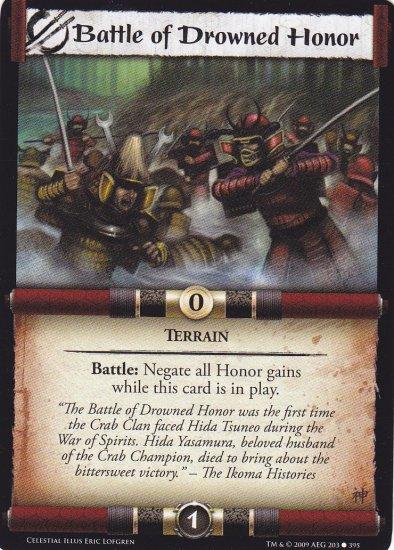 Battle of Drowned Honor x3 (L5R) - Near Mint
