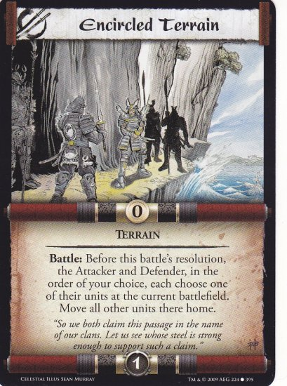 Encircled Terrain x3 (L5R) - Near Mint