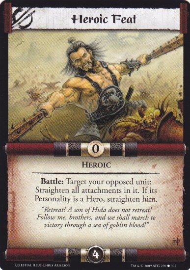 Heroic Feat x3 (L5R) - Near Mint