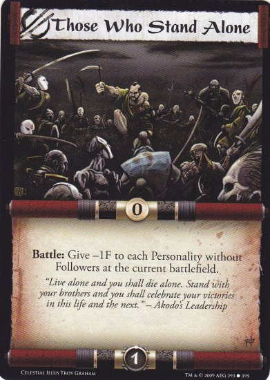 Those Who Stand Alone x3 (L5R) - Near Mint