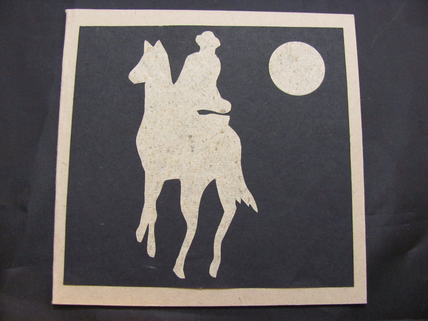 (CBY 01) Horse and Cowboy Silhouette Handmade Greeting Card