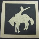 (CBY 02) Bucking Horse Handmade Greeting Card