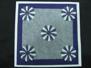 (FLR 39) Purple and White Daisies Handmade Greeting Card