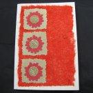 (FLR 43) Three Red Flowers Handmade Greeting Card