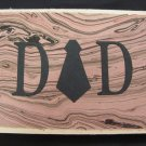 "(DAD 03) ""Dad"", Necktie Father's Day Handmade Greeting Card"