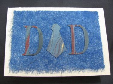 "(DAD 01) ""Dad"", Necktie Father's Day Handmade Greeting Card"