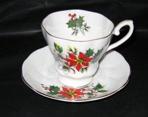 Royal Grafton Christmas Holly Cup and Saucer Set