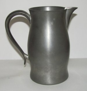 Vintage Pewter Pitcher by Sudbury Pewterers of Connecticut