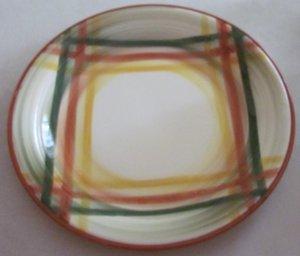 Vintage Vernon Kilns Homespun Chop Plate 12 1/4 inch