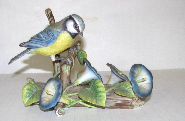 1981 LE Franklin Porcelain English Blue Tit Bird Figurine