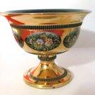 Vintage Florentine 18K Gold Leaf Hand Made Pedestal Bowl