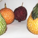 Beaded Fruit 7 pcs. Lifesize! Mark Roberts Flemish Collection