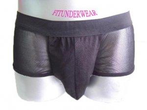 New Men's Sexy Boxer Underwear Black Lingerie #BX154