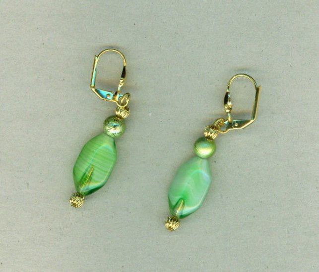 Frosted Lime Earrings