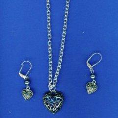 Silver Filigree-pattern Set