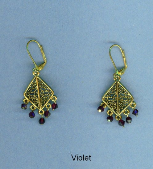 Triangular Gypsy Chandelier Earrings