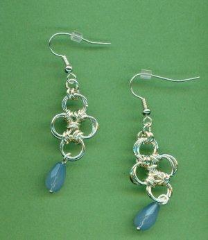 Japanese Lattice Chain Maille Earrings