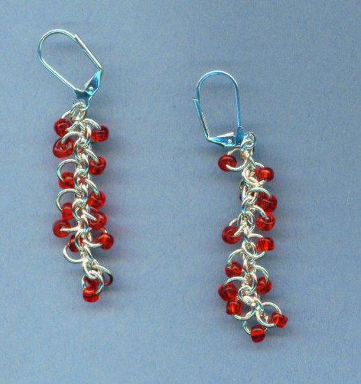 Red Berry Vine Earrings