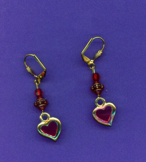 Royal Heart Acrylic Earrings