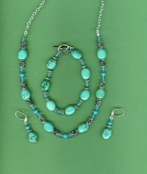 Real Turquoise 3pc Set