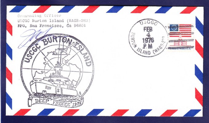 USCGC BURTON ISLAND WAGB-283 DEEP FREEZE 1976 Polar Ship Cover