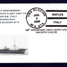 Stores Ship USS GLACIER AF-4 GWF Naples Italy Naval Cover ONLY 5 MADE