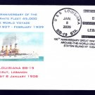 Battleship USS LOUISIANA BB-19 GWF Beirut Lebanon Naval Cover ONLY 6 MADE