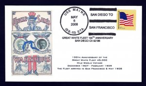 Battleship USS MAINE BB-10 GWF Naval Cover ONLY 5 MADE
