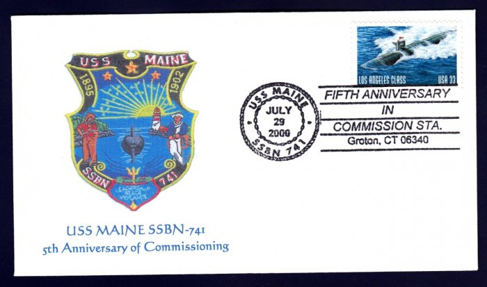 USS MAINE SSBN-741 MHcachets Naval Submarine Cover ONLY 1 MADE