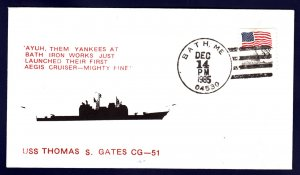 Cruiser USS GATES CG-51 Launching Naval Cover
