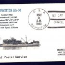 USS BOWDITCH AG-30 FDPS MHcachets Naval Cover ONLY 1 MADE