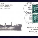 USS QUIRINUS ARL-39 1946 Naval Cover MHcachets ONLY 1 MADE