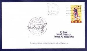 USNS CAPELLA T-AKR-293 Virginia 1998 Naval Cover