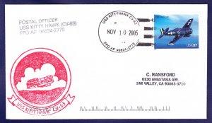 USS KITTY HAWK CV-63 Naval Cover